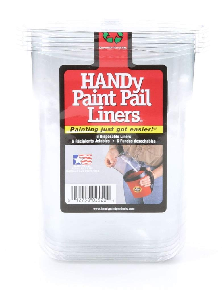 6 Liners for 32-fl oz HANDy Pail Paint Bucket Mixing Container Painters by Handy