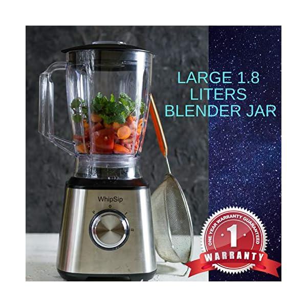 Whipsip Powerful 800W Blender for Smoothies Milk Shake