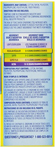 Tampax Regular Flushable 20 ct by Tampax (Image #5)