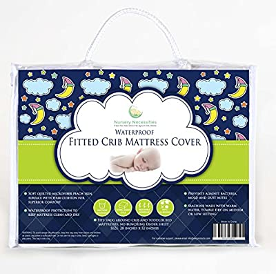 Top Rated Crib Mattress Pad - Now in Pack N Play Size Too! - Waterproof, Hypoallergenic, Breathable, PVC-Free - Superior Quality Protector with Silky Soft Quilted Top by Nursery Necessities