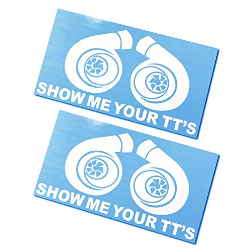 (2 Pack - Show Me Your TT's Decals/Stickers 3.5x6 )