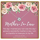 KEDRIAN Mother in Law Necklace, 925 Sterling Silver, Mother in Law Gifts from Daughter in Law, Jewelry Gifts for Mothers Day for The Mother in Law, Pendant Gift Necklaces for Mother of The Groom