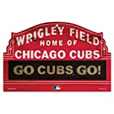 "CHICAGO CUBS WOOD SIGN 11"" X 17"" MARQUEE GO CUBS GO"