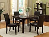 Brand New set of 2 Ferrara Dining Side Chair PU Espresso Finish