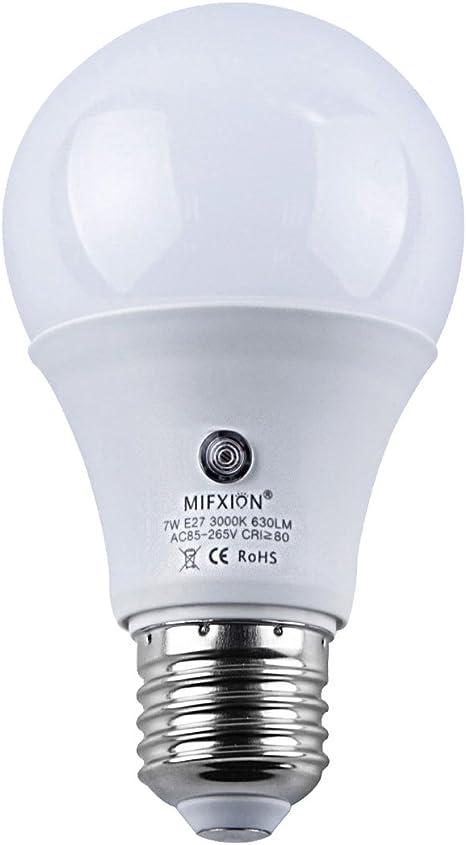 Dusk To Dawn Light Sensor Bulb E27 7w Lamp Post Sensor Light Security Bulb Fence Post