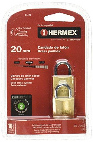 Hermex CL-20, Candado, 20mm (2 Piezas)