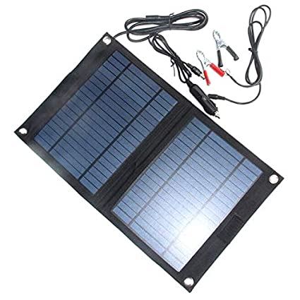 SODIAL - Cargador Solar portátil de 18 V/12 V, 12 W, para ...