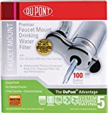 DuPont WFFM100XCH Premier Faucet Mount Drinking Water Filter, Chrome