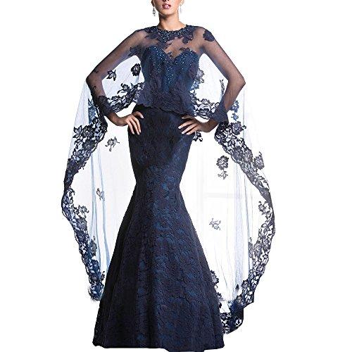 cabo vestidos diamantes Abwedding con novia inferior desmontable sirena de imitaci de EqqHX8w7