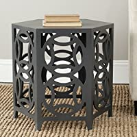 Safavieh American Homes Collection Natanya Charcoal Grey Side Table