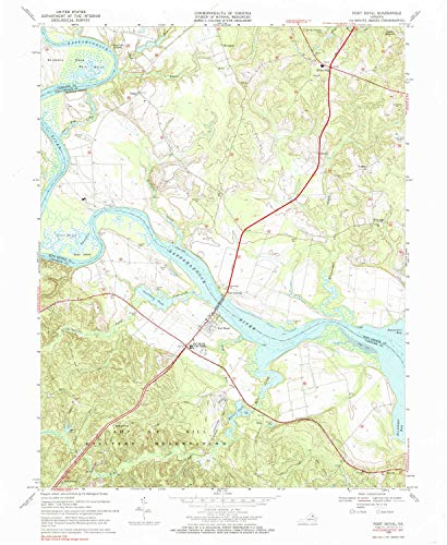 YellowMaps Port Royal VA topo map, 1:24000 Scale, 7.5 X 7.5 Minute, Historical, 1968, Updated 1985, 26.9 x 22 in - Paper ()