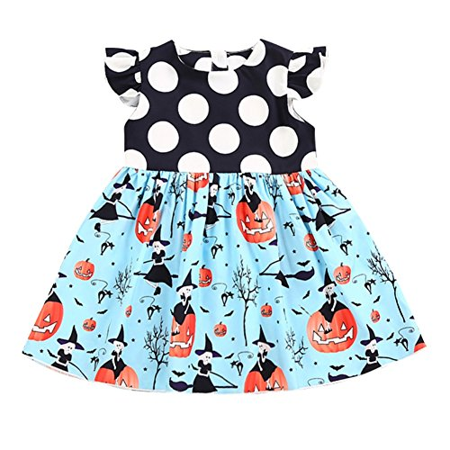 Bambino Weixinbuy Costume Blu Di Principessa Ragazze Da Zucca Halloween Della Abito Sera ORZ4xxS