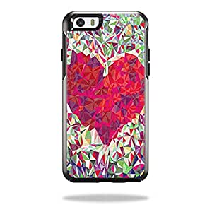 MightySkins Protective Vinyl Skin Decal Cover for OtterBox Symmetry iPhone 6/6S Case Cover Sticker Skins Stained Heart