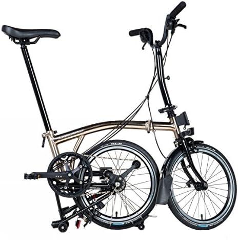 Brompton M6L - Bicicleta plegable de níquel 2017: Amazon.es ...