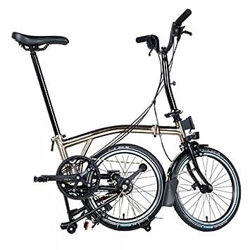 Brompton M6L - Bicicleta plegable de níquel 2017