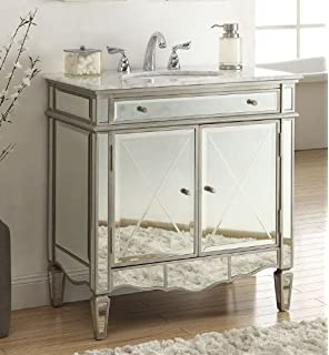 32 Modern Contemporary Style Mirrored Ashmont Bathroom Sink Vanity Model