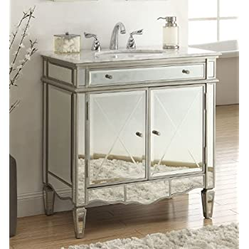 "32"" Modern Contemporary Style Mirrored Ashmont Bathroom sink vanity Model N-744"