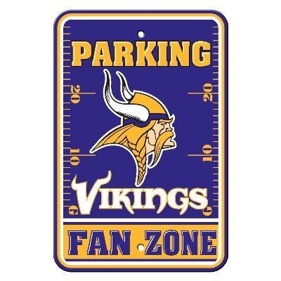 Parking Sign Minnesota Vikings (Minnesota Vikings 12 x 18 Parking Sign)