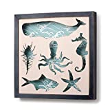 Demdaco Sea Life Framed Shadow Box