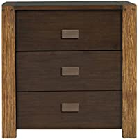 Alpine Furniture American Lifestyle Element Nightstand, Brown