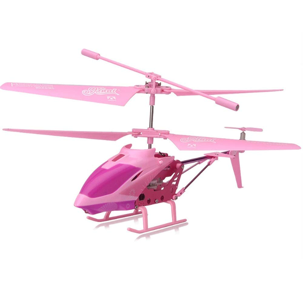 Zenghh Remote Control Helicopter Remote Control Aircraft Girl Cute Pink Toy Children Multiplayer Game 3.5 Channel LED Lights Indoor Outdoor Small Model Airplane Gyro Favorite Gift Preferred Gift