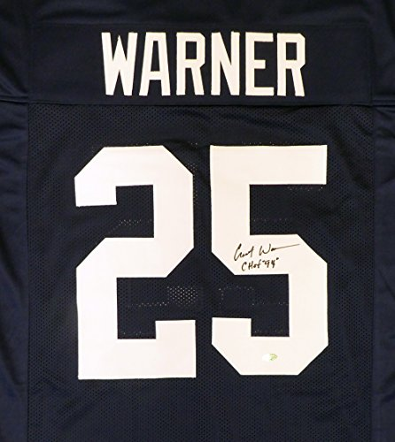 Replica 09 Jersey - Penn State Nittany Lions Curt Warner Autographed Blue Jersey