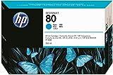 HP 80 Cyan DesignJet Original Ink Cartridge, 350-ml (C4846A)