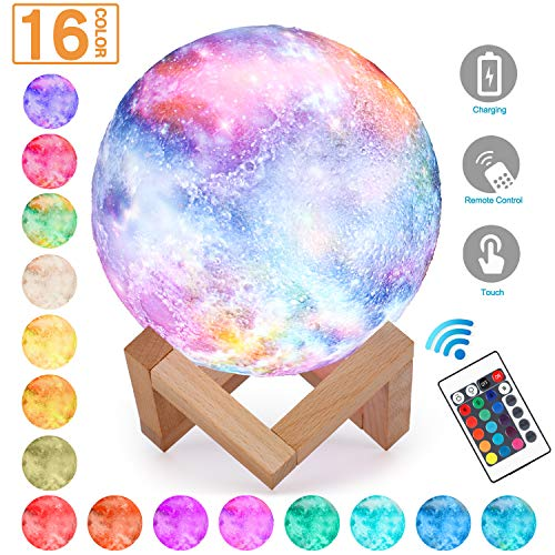 Decorate Your Desk For Christmas - Magicfly Moon Lamp 5.9 Inch Starry