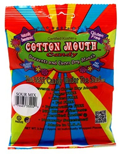 Cotton Mouth Candy Sour Mix Bag 3.3oz (3 (Dry Candy)