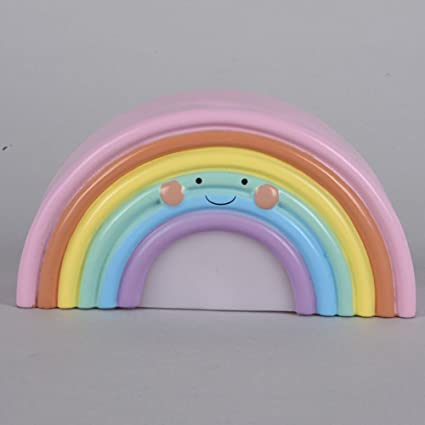 Smartcoco Lovely Smile Rainbow LED Night Light Lamp For Kids Baby Bedroom  Decor