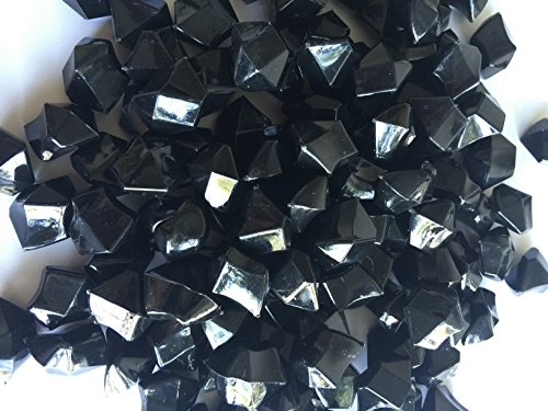 Black Acrylic Ice Rock Vase Gems or Table Scatters 8 lbs (Medium, Black) (Black Acrylic Gems compare prices)