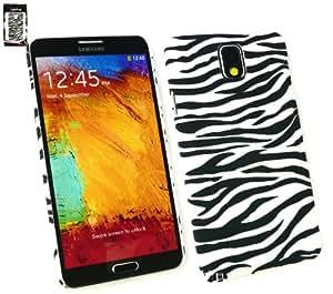 Emartbuy® Samsung Galaxy Note 3 Zebra Negro / Clip Blanco Sobre La Protección Caso / Cubierta / Funda / Piel