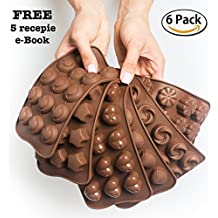 Cake Decorating Chocolate Silicon Molds - Set Of 6 Chocolate Molds - Best For Cake Decorations - Chocolate Candy Molds - Silicone Mold - Hard Candy Molds - Jello Shot Molds