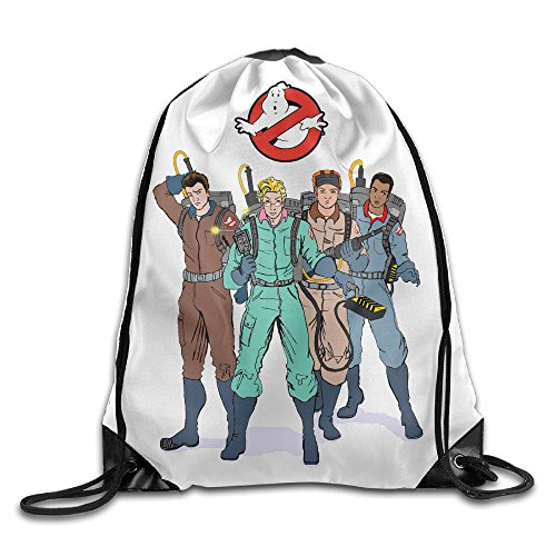 Retro Action The Real Ghostbusters Sack Bag Drawstring Backpack Sport Bag -
