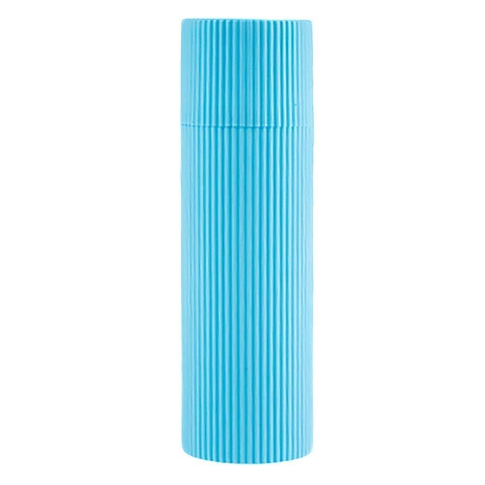 VANKER Portá til cepillo de dientes titular de toallas taza del diente de pasta de dientes Copa de accesorios de bañ o de Viaje--azul