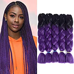 Liyate Jumbo Braiding Hair 24 Inch Crochet Hair Box Braids