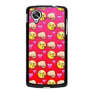 Google Nexus 5 Case,Emoji Case,Smiley Emoji Emoticon Premium Hard Plastic Phone Cover for Google Nexus 5