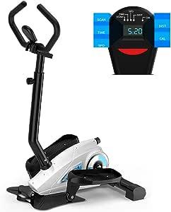 HECHEN Entrenador Bicicleta estática Cruz elíptica, Control magnético Paso a Paso Ajuste - Pantalla LCD de Silencio para el hogar Equipo de Gimnasio pequeño para Interiores,B: Amazon.es: Deportes y aire libre