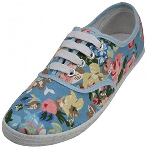 Schoenen8teen Schoenen 18 Damesschoenen Lace-up Sneakers 18 Kleuren Beschikbaar Sky Blue Rose