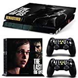 Golden THE LAST OF US-Designer Skin Decals for Sony PS4 PlayStation 4 Console System plus Two(2) Decals for: PS4 Dualshock Controller(6023)