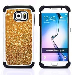 - gold dust bling blurry metal glitter shiny/ H??brido 3in1 Deluxe Impreso duro Soft Alto Impacto caja de la armadura Defender - SHIMIN CAO - For Samsung Galaxy S6 G9200