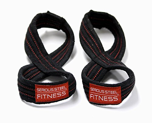 Serious Steel Fitness Figure 8 Straps | Deadlift Straps |Lif