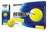 TaylorMade 2018 Distance+ Golf Ball, Yellow