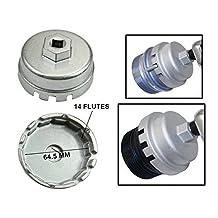 "Sporthfish [Upgrade Version] Oil Filter Wrench For Toyota & Lexus 4 Cylinder Prius Matrix Rav4 Auris Corolla Highlander Avalon Camry Scion TC- Super Strong Aluminum Alloy, Fits 3/8"" & 1/2"" Drive"