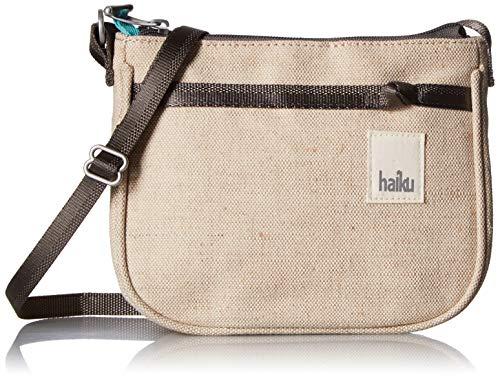HAIKU Women's Lark RFID Blocking Zippered Crossbody Travel Bag, Hemp Cotton