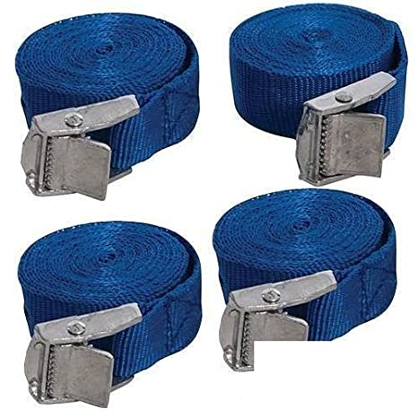 24 Blue Cargo Lash Straps Cam Buckle Tie Down Luggage Quick Release 25mm x 2.5m