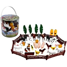 Farm Animal Action Figures - Big Bucket of Farm Animals - 50 pieces in set!