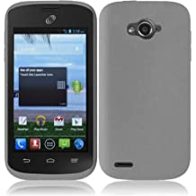 MystCase (TM) Rubber Silicon Skin Case Soft Gel Phone Cover for Straight Talk ZTE Savvy Z750C + Screen Protector (Smoke)