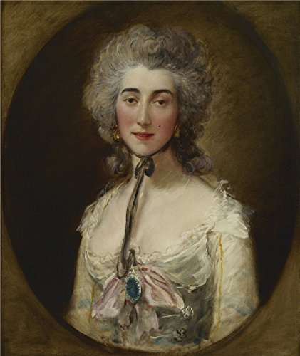For sale Oil Painting 'Thomas Gainsborough - Grace Dalrymple Elliott, . 1782' Printing High Quality Polyster Canvas