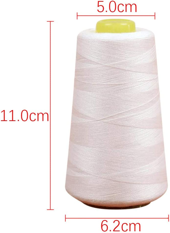 Polyester Sewing Thread Clearance Sale 3000 Yards, Black 8000 Yard Portable Plastic Tube Sewing Machine Line All Purpose Polyester Thread for Hand and Machine Sewing